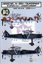 "KORA Models Decals 1/72 HENSCHEL Hs-126A-1 ""SUPERPAVA"" German Legion Condor"