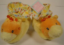 Russ NEW Baby Non Slip Slippers Giraffe Animals Soft Colorful Fabrics 0-10 month