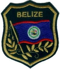 """Lot of 10 BELIZE Flag in shield Embroidered Patches 3.25""""x2.75"""""""