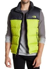 NWT The North Face Nuptse 700 Goose Down Fill Puffer Vest Venom Yellow/Asphalt L
