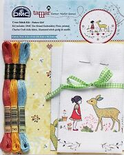 NATURE GIRL CROSS STITCH KIT, FROM Creative World DMC, NEW