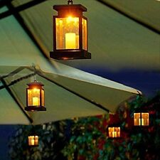 LED Solar Power Lamp Hanging Patio Umbrella Light Outdoor Waterproof Lanterns