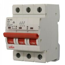 63AMP - 3 Pole Isolator Switchboard - Din Rail mount - Main Switch