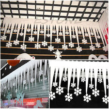 Pop White Snowflake Ice Strip Xmas Christmas Decoration Ornament Festival Party