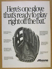1989 Mizuno GOC7 World Win PRO Model Baseball Glove photo vintage print Ad