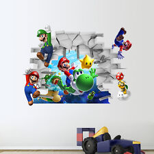 Super Mario Bros pegatinas de pared removible calcomanía Niños Chicos Infantiles Arte Decoración