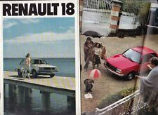 1980 RENAULT 18 A5 Sized French Market 38 Page Brochure