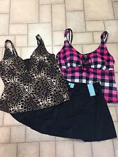 Swimsuit,  Womens Mixed Size 18W 20W...lot Of 3 Pieces, NWT Bottoms - Tops EUC
