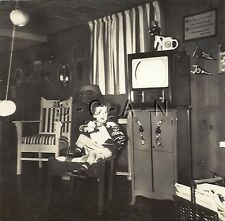 Org Vintage 1940s Halloween Party RP- Costumes- Hanging Apples- Old TV Set- 1949