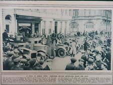 1914 BELGIAN ARMOURED CARS; SHARPSHOOTERS ON WAELHEM ROAD ANTWERP  WWI WW1