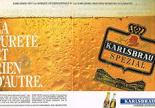 PUBLICITE ADVERTISING  1991   KARLSBRAU    bière  SPEZIAL ( 2 pages)