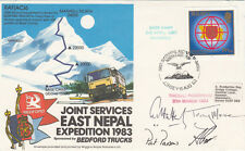Rare Joint Service East Nepal Expedition 1983 Signed 4 members, Flown Hong Kong