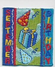 Girl Boy Cub SEPTEMBER BIRTHDAY month Fun Patches Crest Badges SCOUT GUIDE party