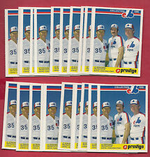 25 X RARE 1986 MONTREAL EXPOS COACHING STAFF  PROVIGO FOOD CARD