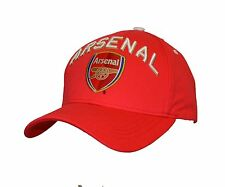 Arsenal  Adjustable Cap Hat-Red 100% Cotton By Rhinox