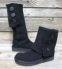 UGG Australia Womens Classic Cardy Black Tall Slouch Boots US 6 NEW!