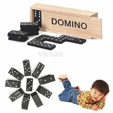 Wooden Boxed Domino Game Play Set Traditional Classic Toy For Kid Children Gifts