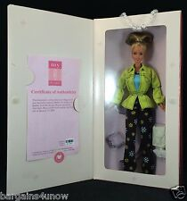 My Design Barbie Personalized Megan Doll Bright Green Jacket Flowered Pants NIB
