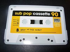 "SUB POP SEATTLE 4"" BEST OF THE WORST Cassette Sticker Decal pearl jam nirvana"
