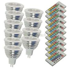 10x Remote Control RGB LED Spot Light Bulb MR16 GU5.3 12V Color Changing