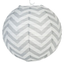 14'' Chinese Japanese Paper Lantern Gray Chevron Home Wedding Party Decor NEW