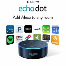 NEW Amazon Echo Dot 2nd Generation Alexa Voice Media BLACK 2016 READY TO SHIP