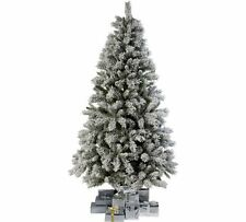Green Snow Covered Christmas Xmas Festive Tree - 180cm / 6ft - Hinged Branches