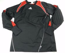 MENS black soccer padded elbow ATHLETIC sport SHIRT = ADIDAS = SIZE SMALL =#p67