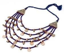 TRIBAL KUCHI *GHUNGROO* BEADS GYPSY RARE BELLY DANCE BANJARA COINS NECKLACE