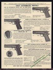 1940 COLT Ace .22, Super .38, Government .45, National Match Pistol AD