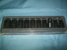 "NEW Snap-on 1/2"" drive 10 thru 19 mm 6-point Shallo Impact Socket Set 310IMMYA"