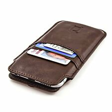 Apple iPhone 7/6S/6 Case Wallet Sleeve Vintage Leather Card Holder Slots Pouch