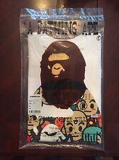 BAPE A Bathing Ape X Dragon Ball White Ape Head T-shirt Size Small