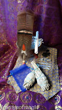 Abalone Shell California White Sage Smudge Stick & Feather Kit Shaman Kyanite
