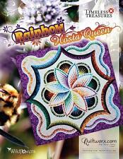 """Rainbow Hosta Foundation Paper Pieced Judy Niemeyer 100"""" Quilt Pattern"""