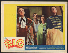 THE BIG SHOW TWO 1961 LOBBY CARDS ROBERT VAUGHN ESTHER WILLIAMS CLIFF ROBERTSON