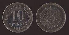 GERMANIA GERMANY 10 PFENNIG 1916 A
