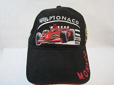 Rare New Monaco Grand Prix Formula One Hat Cap Black Strapback