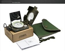 US Military Lensatic Compass Camping Hiking Army Style Survival Marching Metal