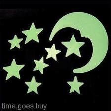 12pc/pack Luminous Stars Moon Stereoscopic Paster Decals Wall Sticker Home Decor