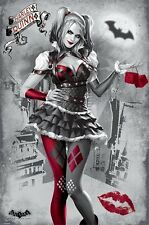 BATMAN ARKHAM KNIGHT MOVIE (LAMINATED) POSTER (61x91cm) Harley Quinn PINUP NEW