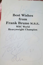 6x4 Hand Signed Photo of Boxers Nigel Benn & Frank Bruno