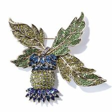 Heidi Daus Thistle Twit Crystal Pin SWAROVSKI BEAUTIFULLY COLLECTORS DREAM MUST!