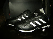 New Mens Black White Adidas Excelsior Classic American Baseball Cleats, 13.5