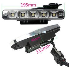 2PCS 5LED 10W Daytime Running Lights DRL Car Driving Fog Head Lamp 00RL E4 0057