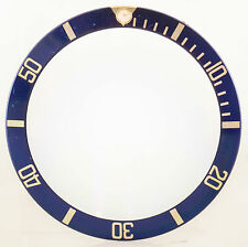 100% GENUINE ROLEX BLUE & GOLD BEZEL INSERT FOR SUBMARINER 16618 -  UK STOCK