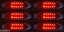 6x 12 LED rosso 24V LATO CROMO EDGE LUCI DI POSIZIONE Camion Furgone