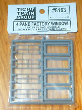 Tichy Train Group HO #8163 Center Tilting Sash Industrial Window pkg(8) -- Scale
