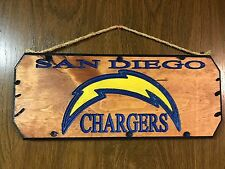 Wood sign Chargers