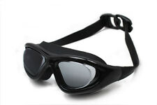 Top Grade UV Protection/Waterproof/Anti-Fog Lens Black Swimming Goggles